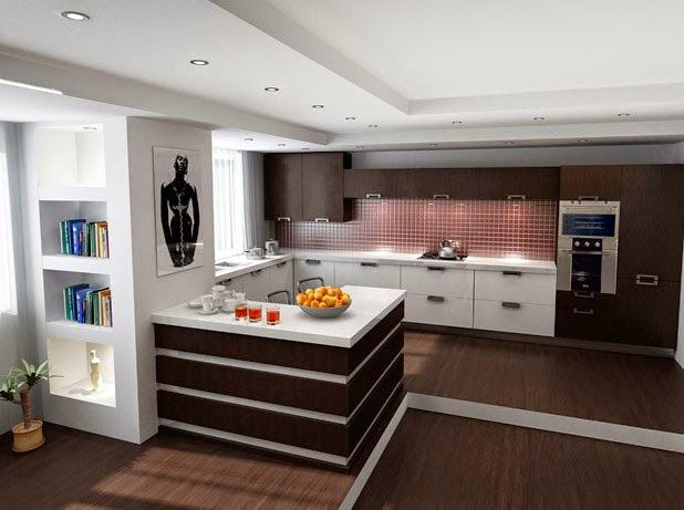 DESIGN KITCHEN-LIVING ROOM - COMFORTABLE AND MODERN