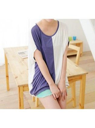 Color Contrast Batwing T-shirt