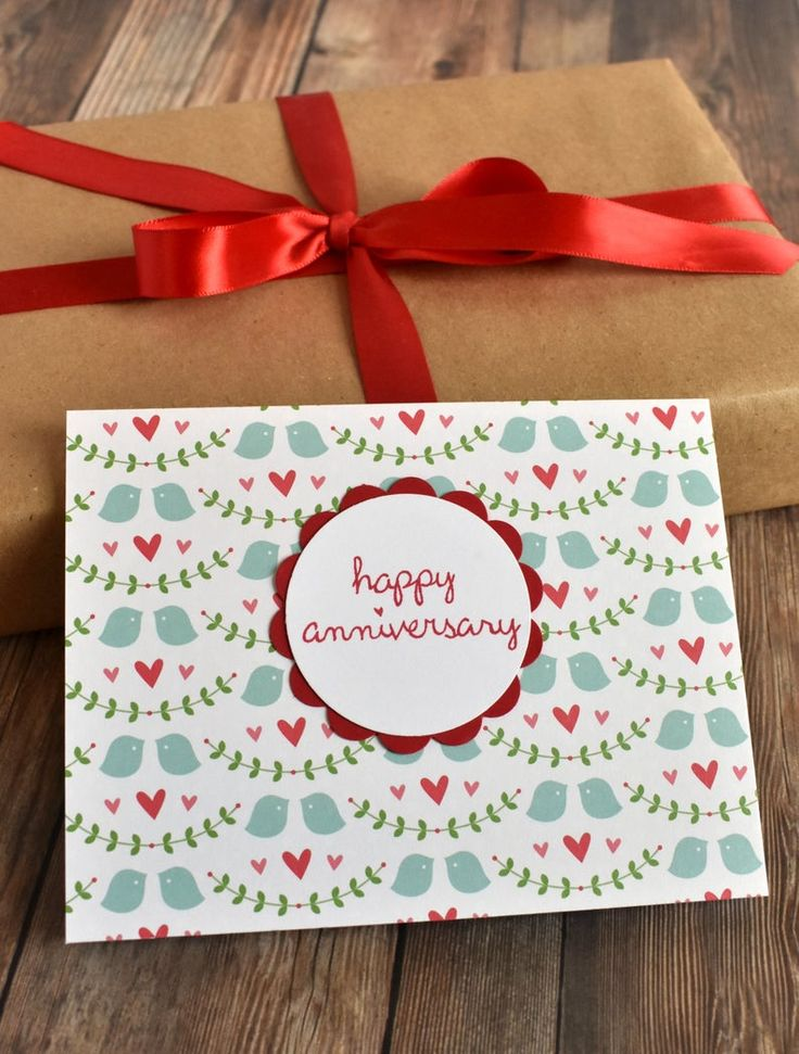 1st Anniversary Card for Couple – Anniversary Card for Boyfriend – Handmade Anniversary Gift for Husband – Greeting Cards Gift for Women