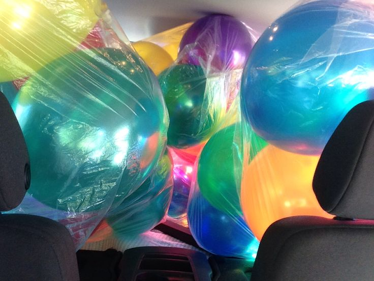 Can't fit anymore balloons in my car