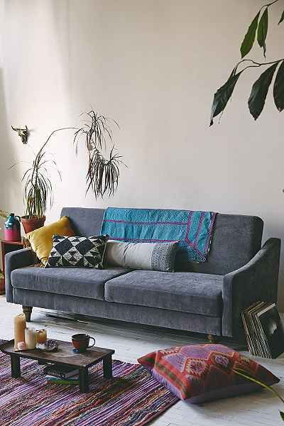 Stylish sleeper sofa perfect for holiday guests salon for Urban boho style furniture