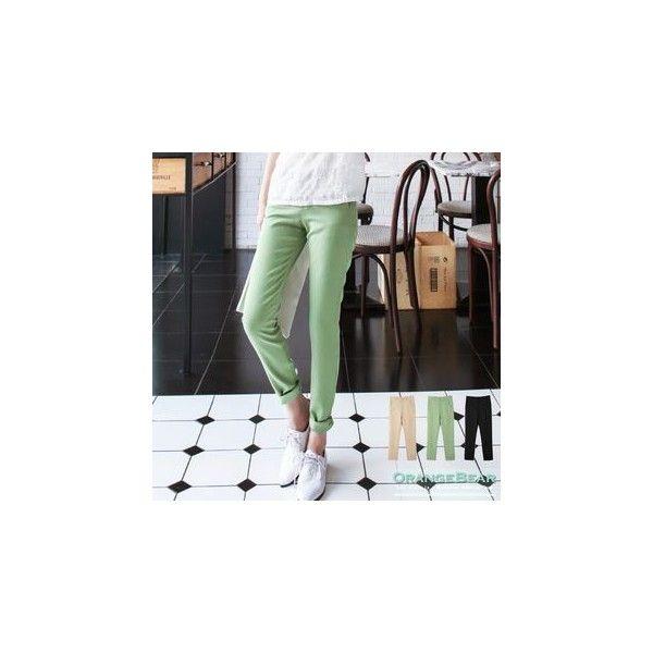 Pocket Slim-Fit Pants (2210 RSD) ❤ liked on Polyvore featuring pants, women, slim trousers, slim pants, slim khaki pants, khaki trousers and slim fit pants