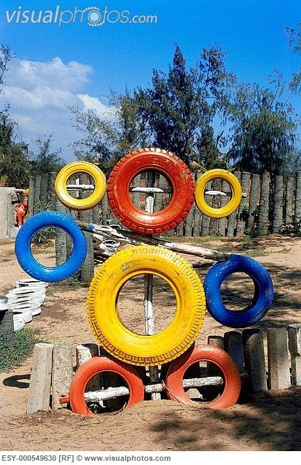 Another way to re use tyres tyres pinterest for Tire play structure