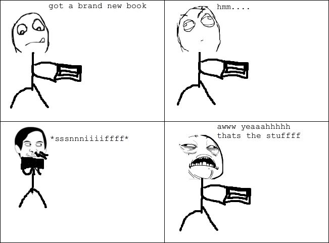 The new book smell.