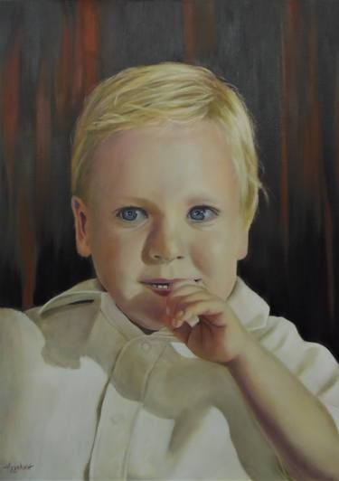 """""""Billy"""" by Ageliki, 50X70cm, oil on streched canvas"""