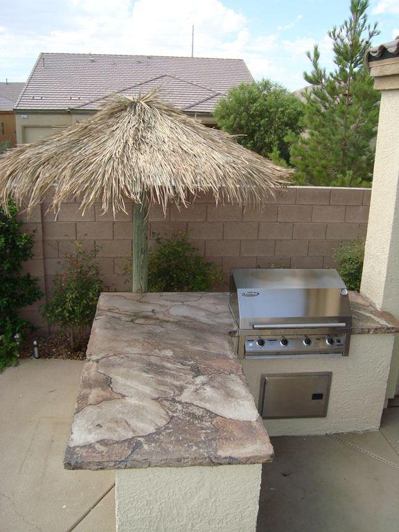 Outdoor kitchen =): Backyard Idea, Outdoor Living, Backyard Pools Landscape, Outdoor Kitchens, Backyard Back, Patio, Kitchen Ideas, Outdoor Idea, Kitchens Idea