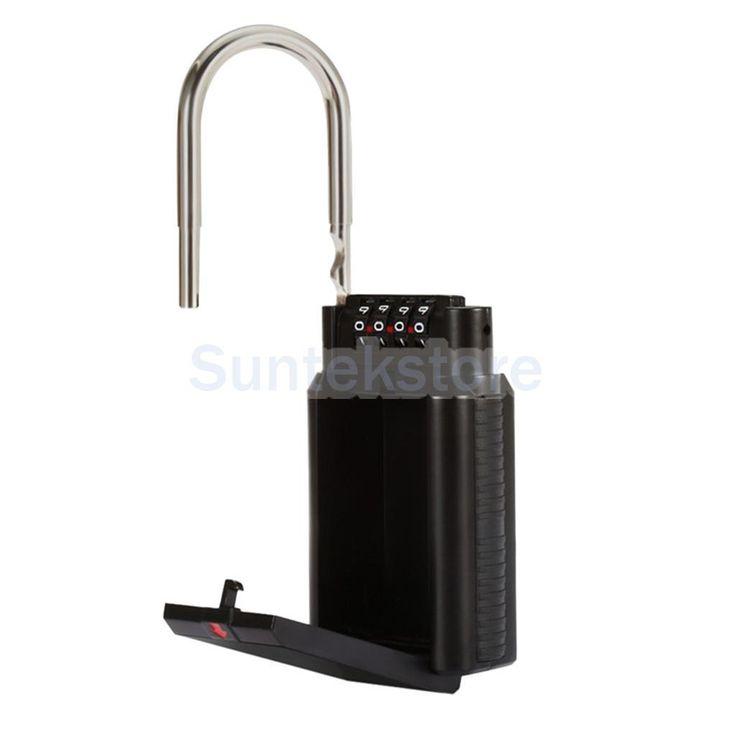Metal Key Box Holder Security Lock Safe Storage Case Locker Home/Car Black
