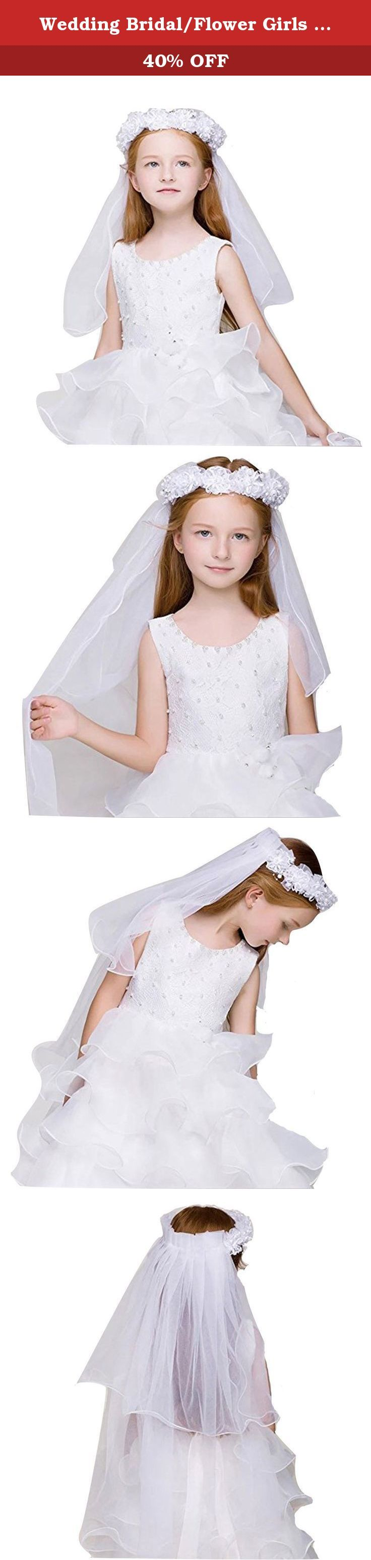 Wedding Bridal/Flower Girls Short Head Veil Headband Kids for Baptism Communion. Package: Polybag Item Location: CA USA Shipping: USPS STANDARD POST (2-5 WORKING DAYS DOMESTIC DELIVERY) .