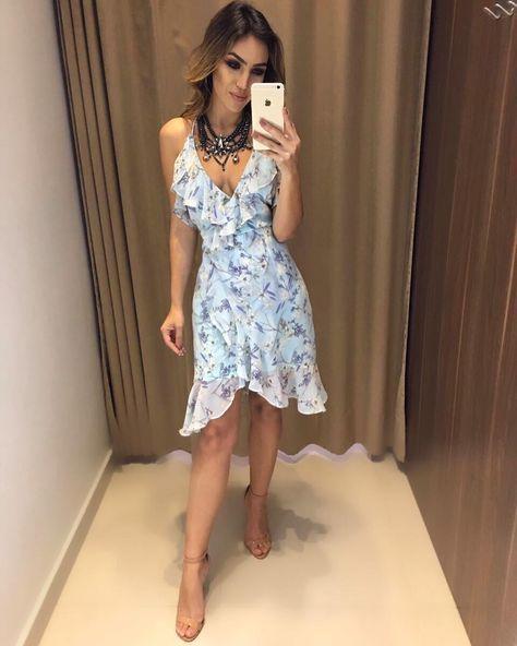 Vestido Debora com a cor hit azul Serenety! A nova coleção esta enlouquecedora.