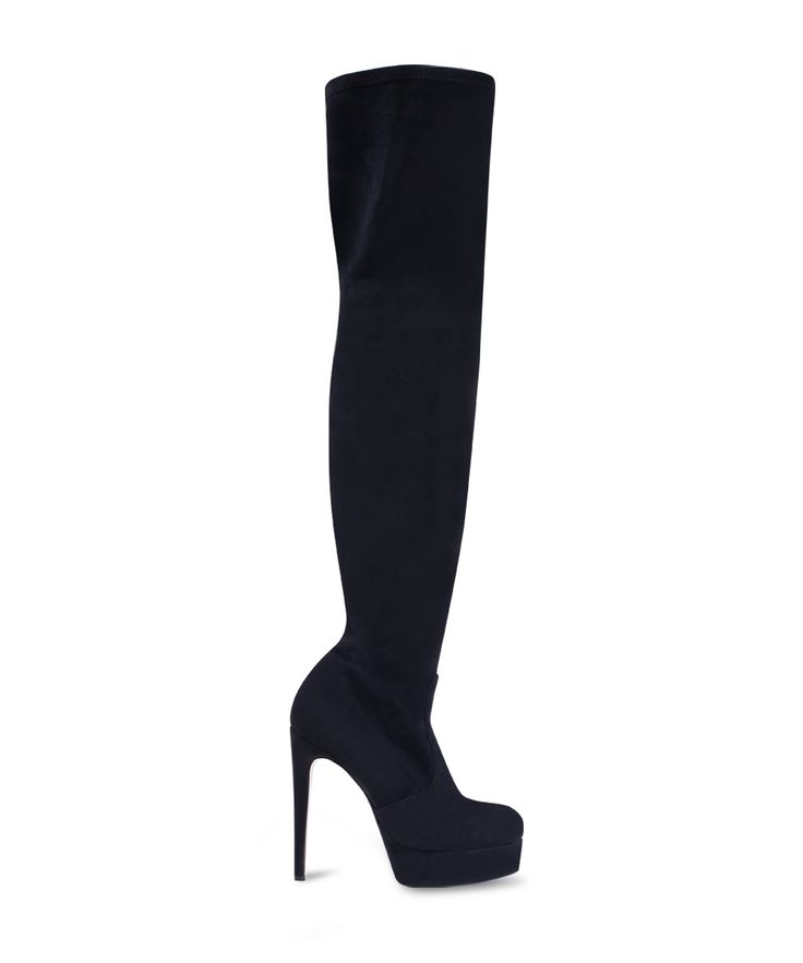 SANTE over the knee stiletto front platform boot for all night long parties! Black