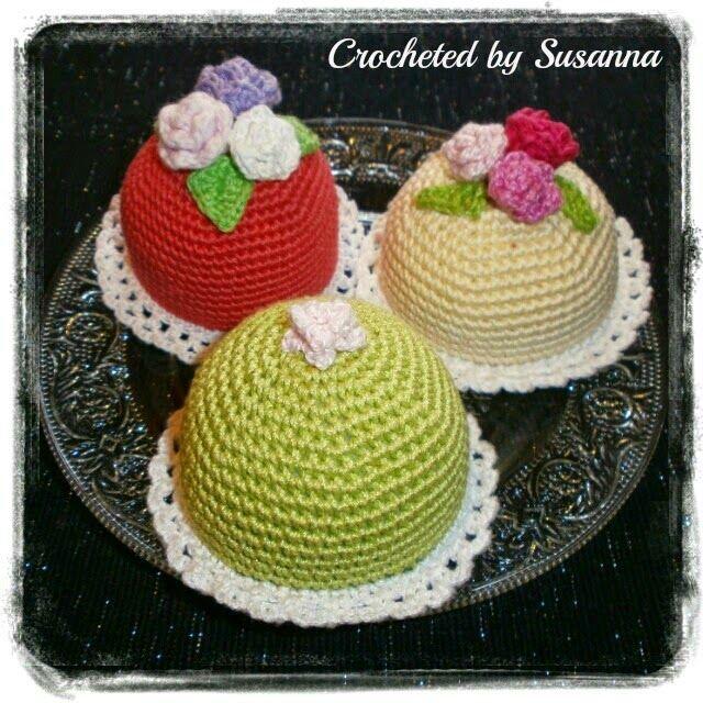 Crochet Cake - Virkade Tårtor / Bakelser - Crocheted by Susanna