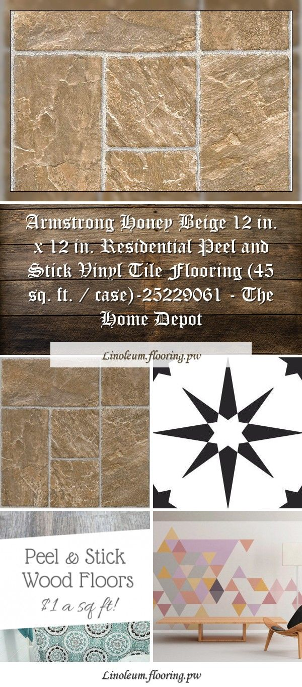 Armstrong Honey Beige 12 In X 12 In Residential Peel And Stick Vinyl Tile Flooring 45 Sq Ft Case 25229061 The Home Depot In 2020 Vinyl Tile Flooring Peel And Stick Vinyl Peel And Stick Floor