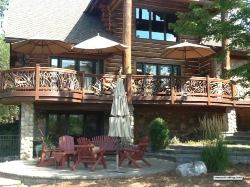 Best 17 Best Images About Best Log Home Deck Railing On 400 x 300