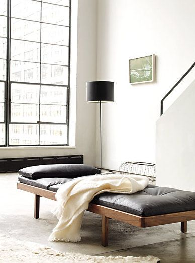 Modern leather daybed …
