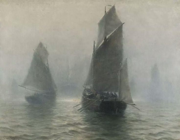 """Уильям Эдвард Нортон """"Парусники в тумане"""""""