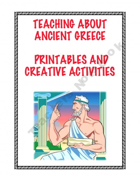 Teaching About Ancient Greece: Printables and Creative Activities