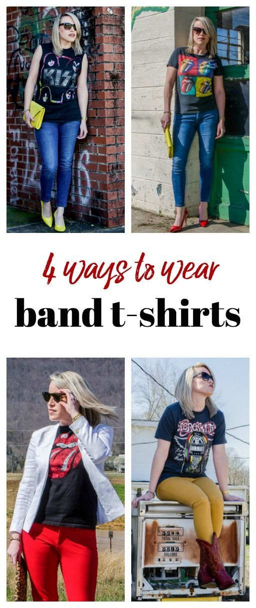 Band tees are so in-style! You can create so many fun looks that are so chic!