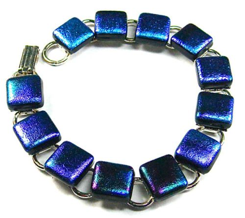 IMG_3860 by vickimimis Fused dichroic glass button bracelet. http://ift.tt/2zFwb2C Free eBook at http://ift.tt/219cweU with easy jewelry making projects.  IMG_3860 by vickimimis Fused dichroic glass button bracelet....