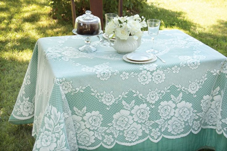 yourtablecloth - Victorian Rose Rectangle Tablecloth, $55.00 (http://www.yourtablecloth.com/victorian-rose-rectangle-tablecloth/)