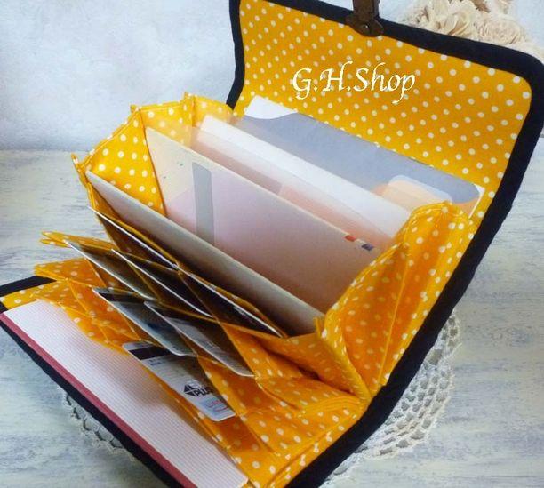 新*蜂の巣カードケース付通帳ケースの型紙説明書 2x