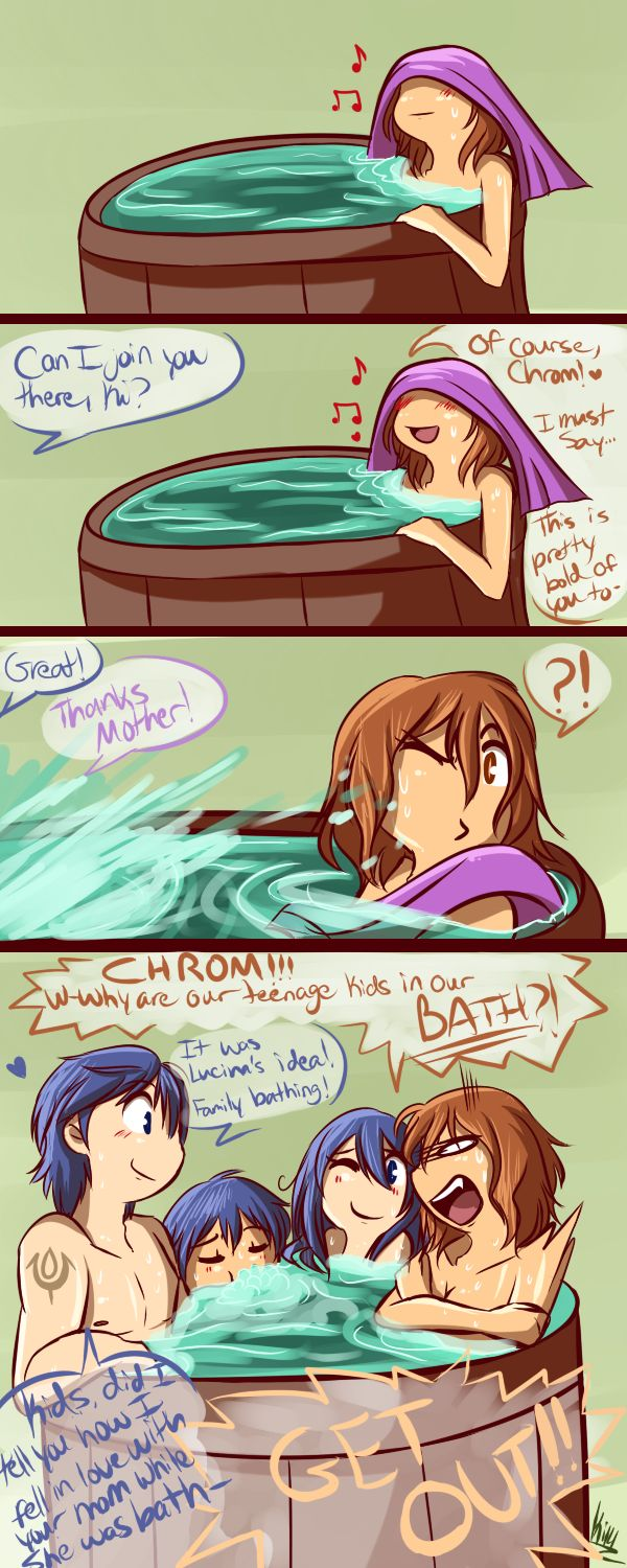 FE- Family Bathing by Kilala04 on deviantART