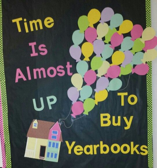 UP inspired bulletin board for yearbook sales