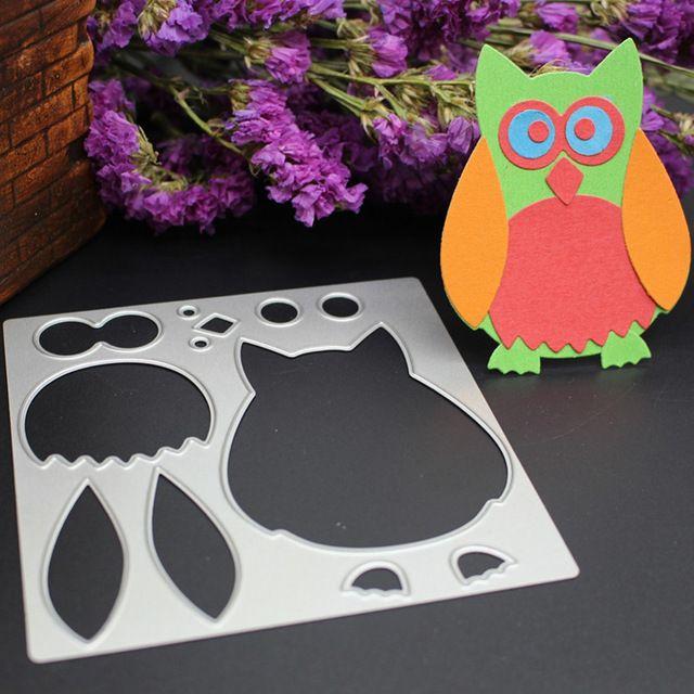 Leuke Uil Animal sterft Metalen Stansmessen Craft DIY Scrapbooking Kaart Fotoalbum Embossing Papier Decor Stencils Template