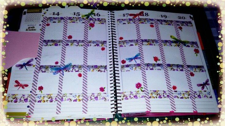 Agenda decorata con le libellule