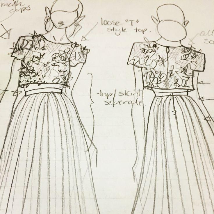 Wedding Gowns, Sketches, Design