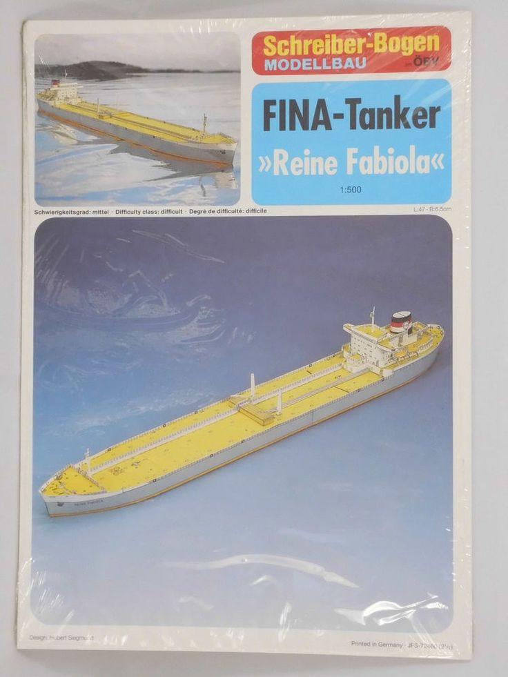 Fina Tanker Fabiola Maßstab 1:500 Schiffmodell Schreiber Karton  Papiermodellbau