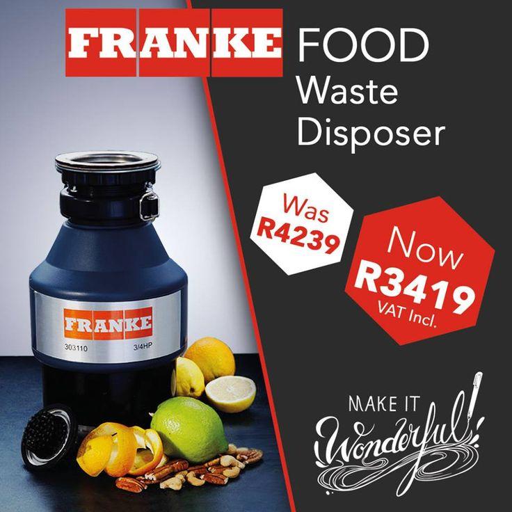 Franke Food Waste Disposer 0.75 HP Model FP
