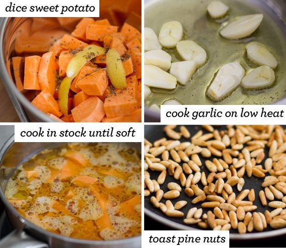 Sweet Potato, Caramelised Garlic