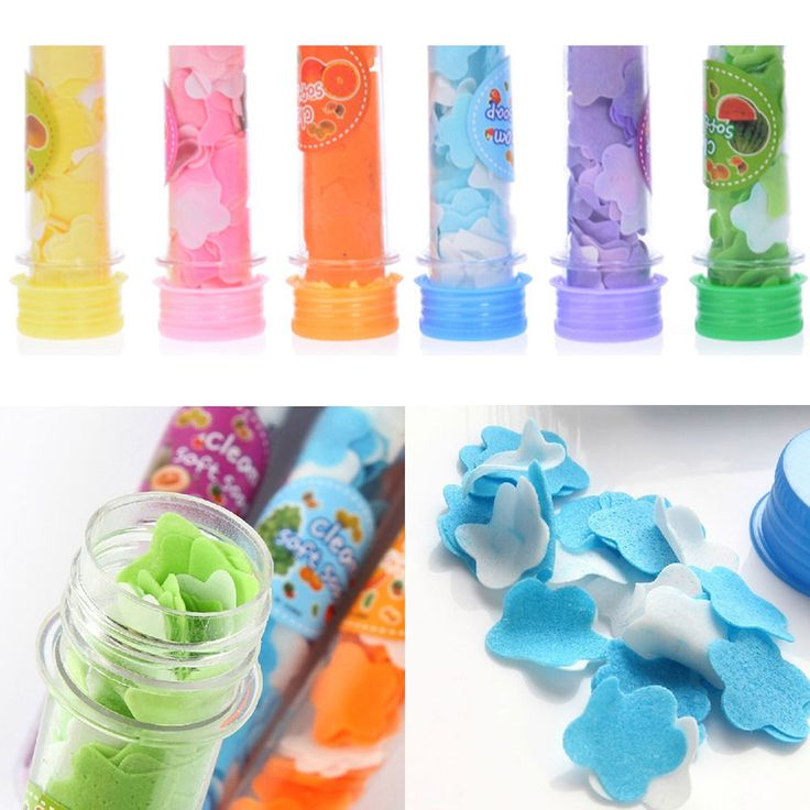 Fshion Travel Essential Random Color Portable Soap Flower Soap Piece Tube #New