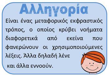 Figurative language (Σχήματα λόγου/εκφραστικά μέσα)