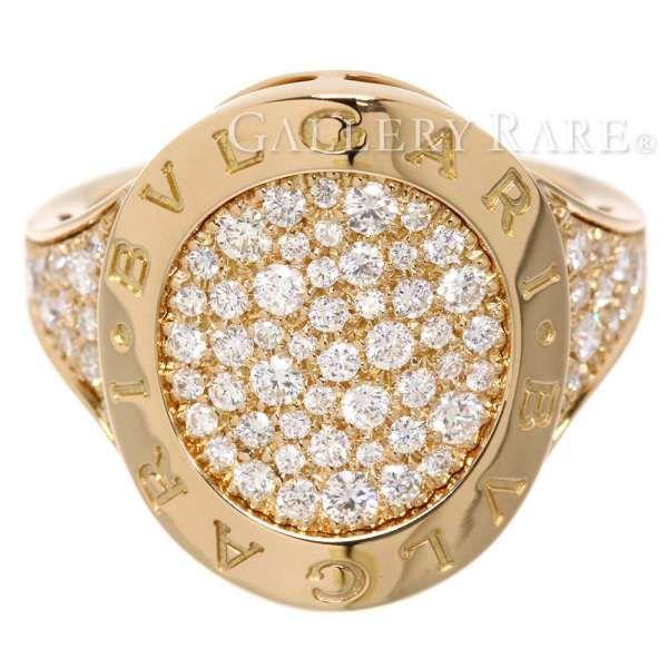 ブルガリ リング ブルガリ・ブルガリ パヴェダイヤ ダイヤモンド K18PGピンクゴールド リングサイズ約16.5号 BVLGARI 指輪 ジュエリー ダイアモンド