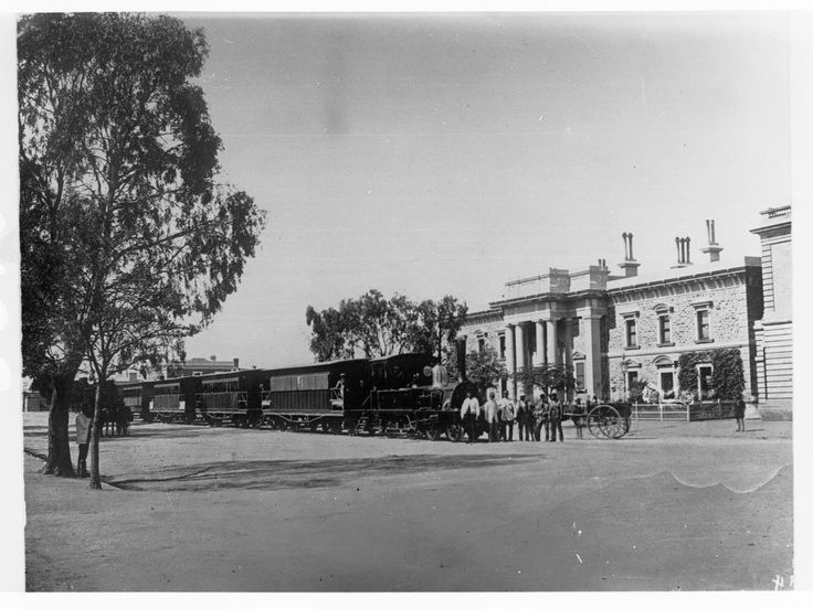 South Australia - The Glenelg Train on King William Street, in front of Victoria Square.