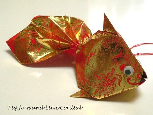 Ang pao fish craft crafts and asian chinese new year for Ang pao decoration
