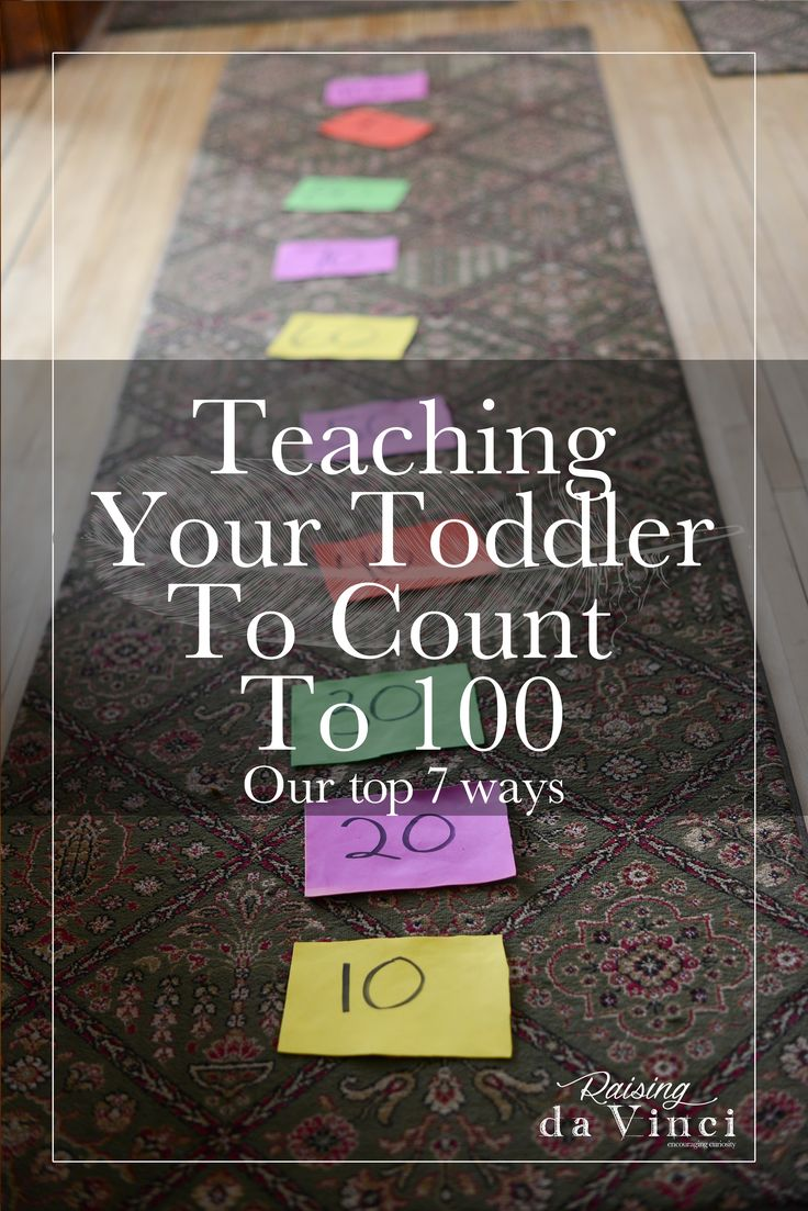 Great ideas how to count to 100, not just for toddlers! These are fun ways to teach counting to 100!