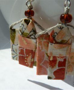 Kimono origami earrings