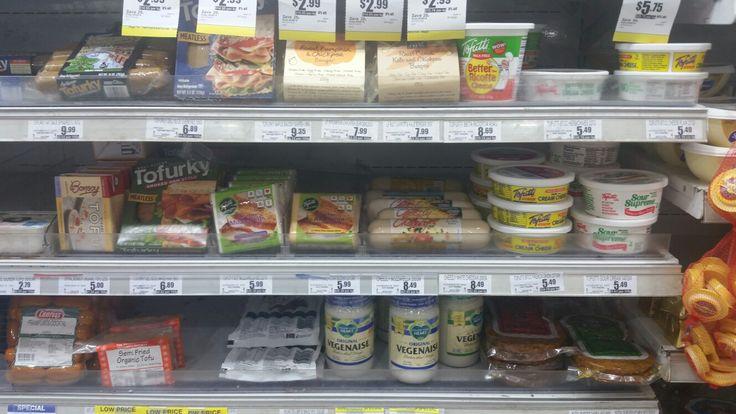 Tofurky sausages, vegannaise, tofutti cheeses etc (dairy & meat alternatives) - Foodland