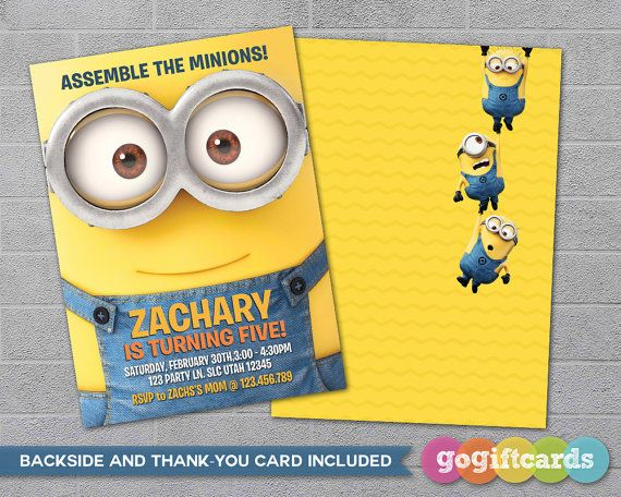 Best 25 Minion birthday invitations ideas – Free Animated Birthday Invitations