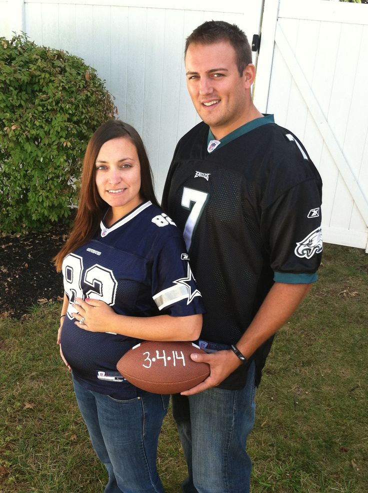 32 best Fun Pregnancy Announcements images – Football Birth Announcements