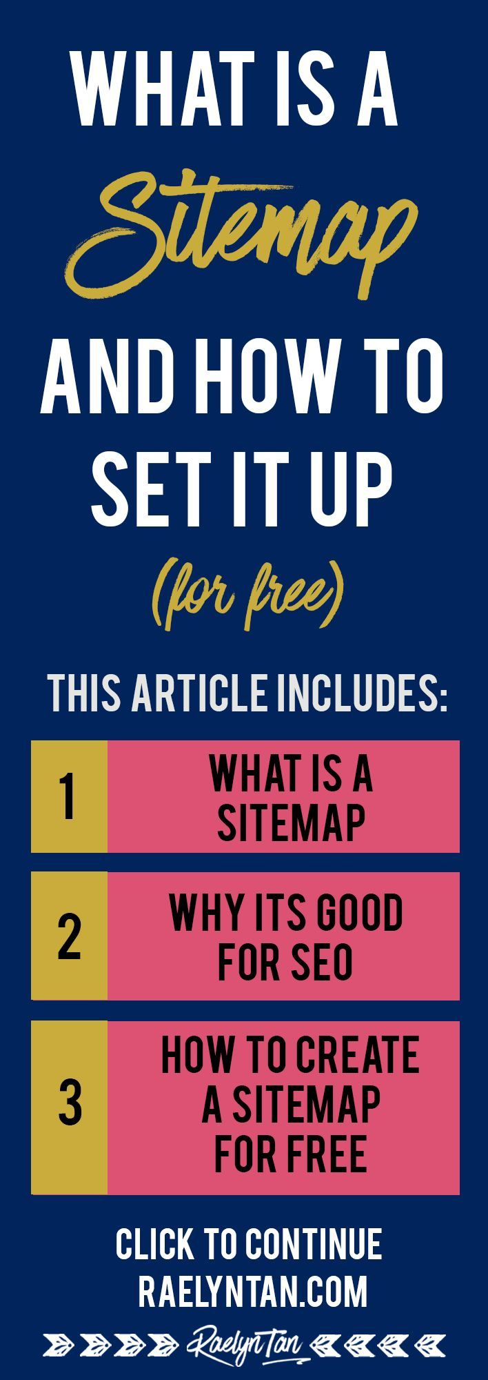 What is a sitemap? Great article on how to generate a simple website sitemap for your blog using free Sitemap generators!