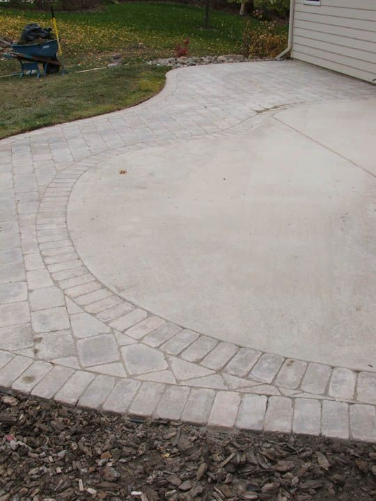 Expanding Concrete Patio With Raised Beds