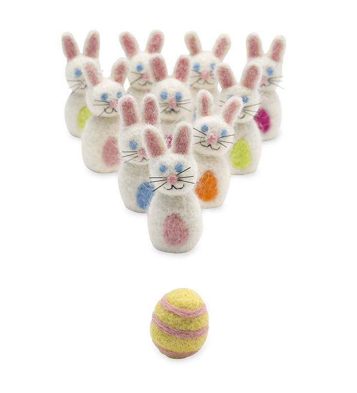 Felt Bunny Bowling Set   Shop all Toys   Magic Cabin