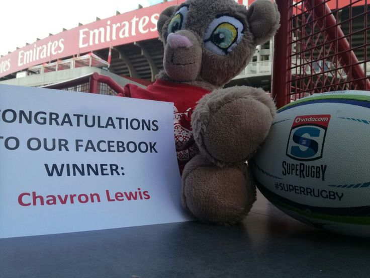 Congratulations to Chavron Lewis who won two tickets to this weekend's match on Emirates Airline Park! #LeyaTheLion #Liontaiment #Lions4Life #SuperRugby #EmiratesLions #BeThere #MyLionsMoment #LionsPride #LIOvSHA