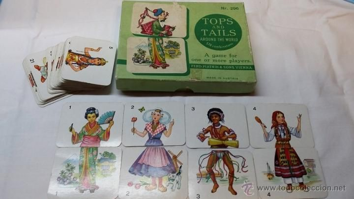 Vintage 1940's TOPS & TAILS card game