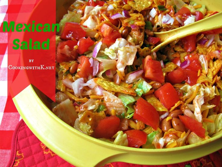 Southern | Cooking with K: Granny's Recipe! Mexican Salad made with Catalina Dressing {Perfect for July 4th!}