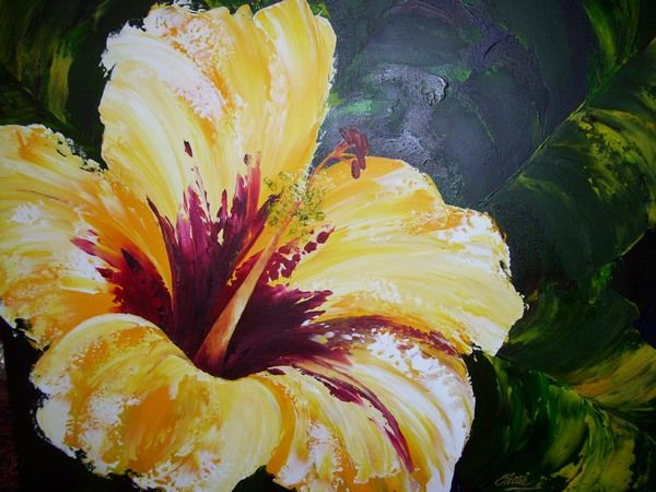 24 best painting images on pinterest canvases acrylic for Floral acrylic paintings