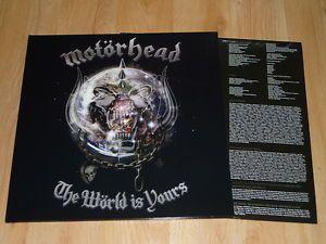 MOTORHEAD - The World Is Yours - VINYL LP - GATEFOLD  INNER
